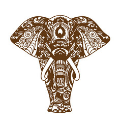 abstract elephant vector image