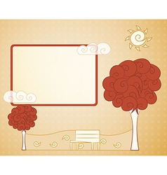 Abstract vintage tree vector