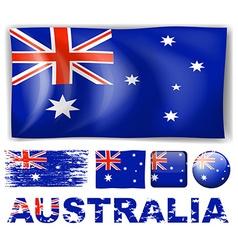 Australia flag in different designs vector