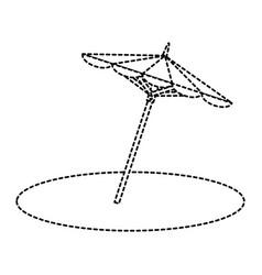 beach umbrella isolated icon vector image