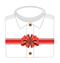 Blanching shirt in gift vector