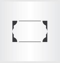 border black frame element empty background vector image