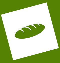 Bread sign white icon obtained as a vector
