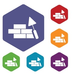 Building rhombus icons vector