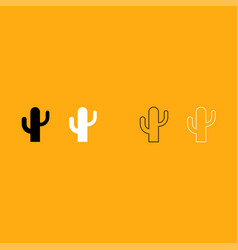 Cactus it is white icon vector