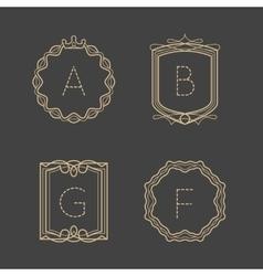 Calligraphic vintage monograms vector image