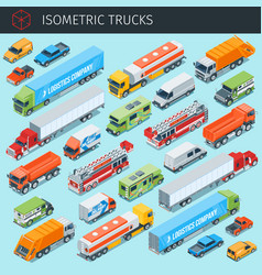 cargo trukcs set 2 vector image