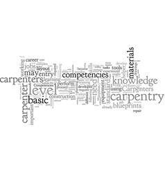 Carpentry career competencies vector