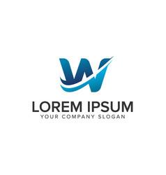 cative modern letter w logo design concept vector image