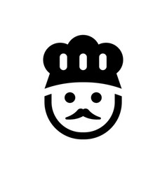 Cooking chef icon vector