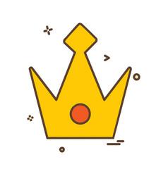 crown icon design vector image