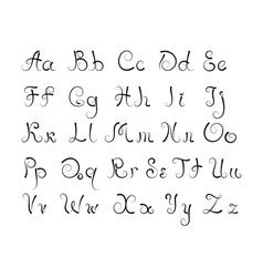 Curl alphabet vector