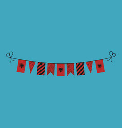 Decorations bunting flags for albania national vector