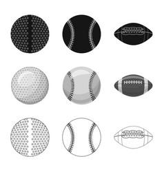 design sport and ball sign set sport vector image