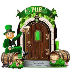 Door to the irish pub vector