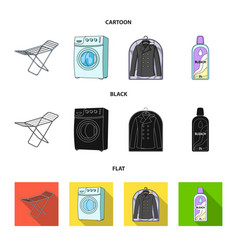 Dryer washing machine clean clothes bleach dry vector