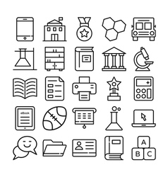 Education Icons 5 vector