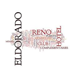 Eldorado reno text background word cloud concept vector