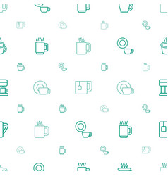Espresso icons pattern seamless white background vector