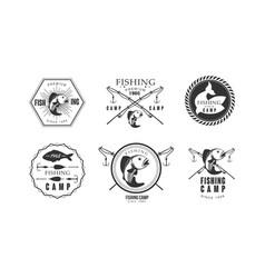 fishing premium camp since 1965 logo design vector image