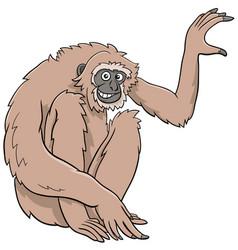 gibbon ape cartoon wild animal character vector image