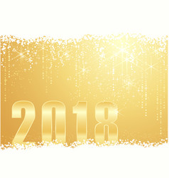 Golden happy new year 2018 background vector