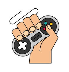Hand with controller video game vector