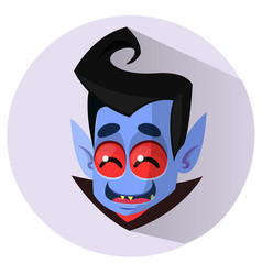 happy cartoon vampire head icon vector image