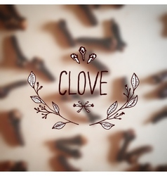 Herbs and Spices Collection - Clove vector