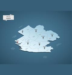 isometric 3d gabon map concept vector image