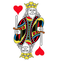 King of hearts isolated french version vector