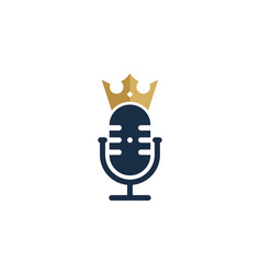King podcast logo icon design vector