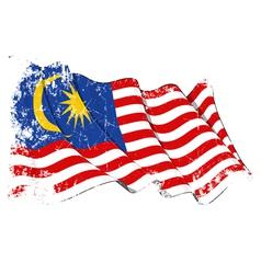 Malaysia Flag Grunge vector image