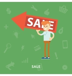 Man rejoices sale vector