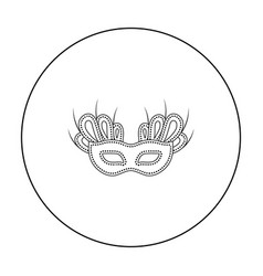 mask icon in outline style isolated on white vector image