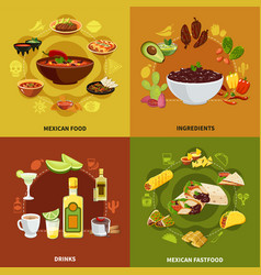 mexican food design concept vector image