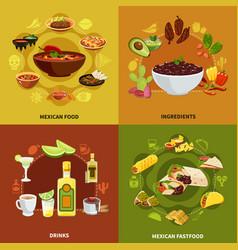Mexican food design concept vector