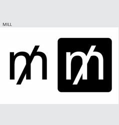mill currency symbol vector image