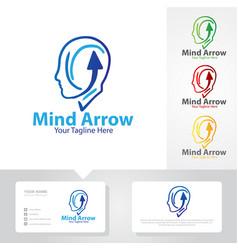 mind arrow logo designs vector image