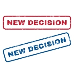 New decision rubber stamps vector