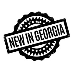 New in georgia rubber stamp vector
