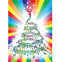 New year music notes vector