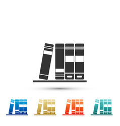 Office folders with papers and documents icon vector