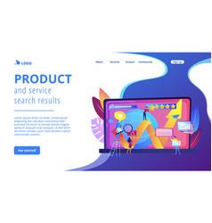 Online reputation management concept landing page vector