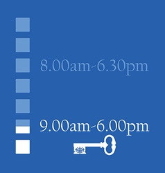 Opening hours vector image