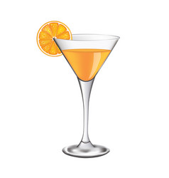 orange cocktail glass vector image