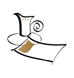 Paper and cup vector