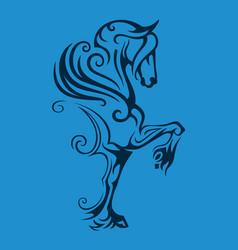 pegasus winged horse vector image