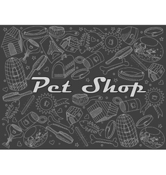 Pit shop chalk vector