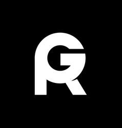 r g logo monogram vector image